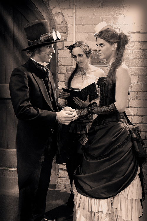 steampunk-wedding-ceremony