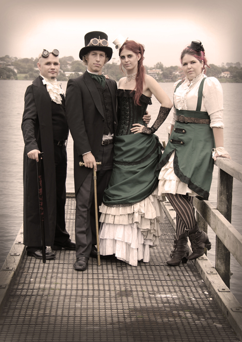 steampunk-wedding-jetty-wedding-party